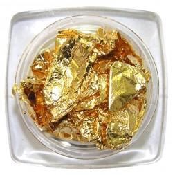 Фольга жатая в баночке, цвет золото