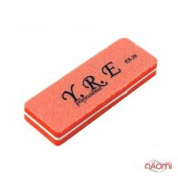 Баф-шлифовщик для ногтей YRE PA 26, 100/180, цвет оранжевый