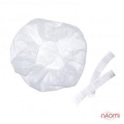 Шапочка Гофре, колір білий, в упаковці 5 шт.