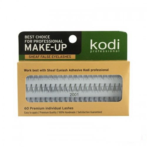 Вії накладні пучкові Kodi Professional № 2001, 60 шт., чорні, фото 1, 75.00 грн.