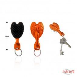 Расческа-брелок Tangle Angel Baby Brush OMG! Orange, цвет оранжево-черный