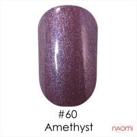 Гель-лак Naomi Gel Polish  60 - Amethyst фиолетово-сиреневый блестящий металлик, 12 мл
