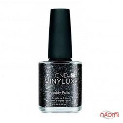 Лак CND Vinylux Weekly Polish 230 Dark Diamonds черный с блестками, 15 мл