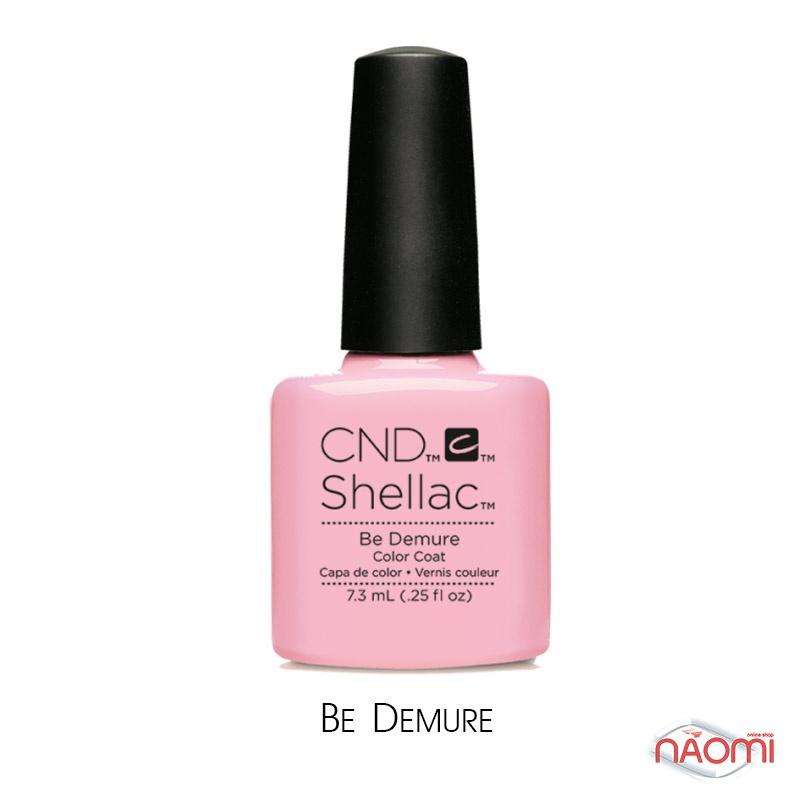 CND Shellac Flirtation Be Demure, рожевий, 7,3 мл, фото 1, 339.00 грн.