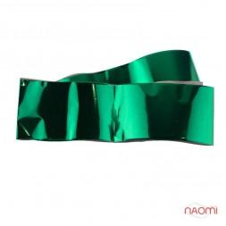 Фольга для ногтей переводная, для литья, зеленая глянцевая L= 1 м. ширина 4 см