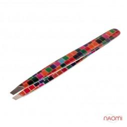 Пинцет KDS для бровей 3270, цвет в ассортименте, 9,5 см