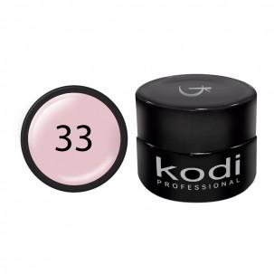 Гель-краска Kodi Professional 33, цвет розовый абрикос, 4 мл