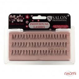 Пучковые ресницы Salon Professional, LONG длинные, черные