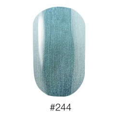 Лак Naomi 244 Aurora перламутровый зелёно - голубой, 12 мл