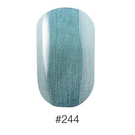 Лак Naomi 244 Aurora перламутровый зелёно - голубой, 12 мл, фото 1, 60.00 грн.