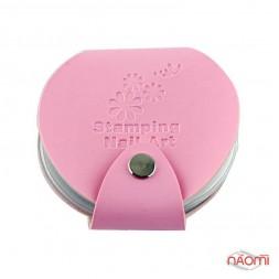Чехол для 24 дисков Stamping Nail Art, цвет светло-розовый