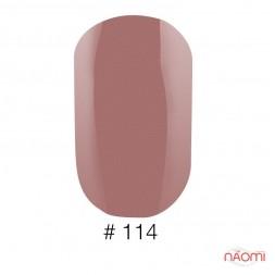 Лак Naomi 114 марсала с матовым эффектом, 12 мл