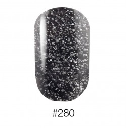 Лак Naomi 280 чёрный с вкраплениями, 12 мл