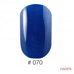 Лак Naomi 070 синий перламутровый, 12 мл