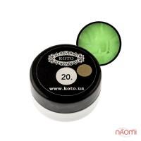 3D Гель-пластилин KOTO 20 салатовый, 5 г