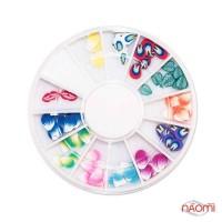 """Декор для нігтів в контейнері Fima """"Карусель"""" пелюстки, кольорові"""