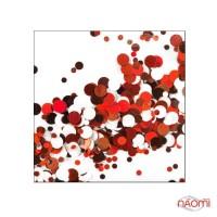 Декор для ногтей конфетти (камифубуки) KF 043, красный, терракотовый, белый, шоколадный