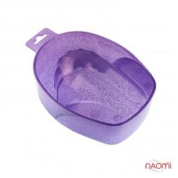 Ванночка для маникюра, гламур, цвет лиловый
