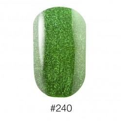 Лак Naomi 240 Aurora ярко - зелёный с шиммерами, 12 мл