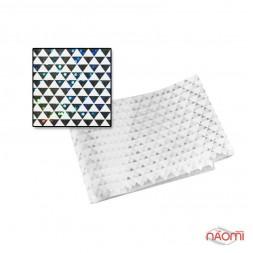 Фольга для ногтей голографическая 004, мелкие треугольники,  L= 0,2 м ширина 3 см