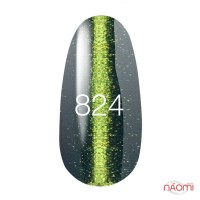 Гель-лак Kodi Professional Moon Light 824 морская волна с золотисто-салатовым бликом, 8 мл