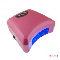 УФ LED+CCFL Лампа для гель-лаков и для геля, 15Вт с таймером 10, 20 и 30 сек., цвет розовый