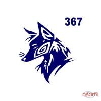 Трафарет для временного тату Креативные и стильные №367 6х6 см
