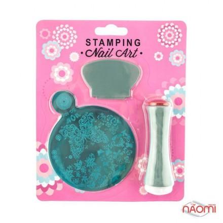 Набор для стемпинга Stamping Nail Art SG 10, штамп, скрапер и пластина, фото 1, 80.00 грн.