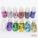 Набор декора для ногтей, чешуя в пробирке мелкая, в наборе 12 шт., фото 3, 64.00 грн.