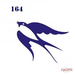 Трафарет для временного тату Птицы №164 6х6 см