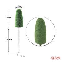 Полировщик силиконовый для искусственных ногтей Н 334 Зеленая груша средняя