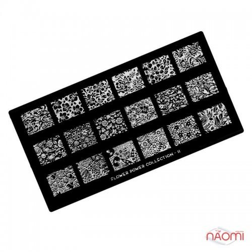 Пластина для стемпинга MoYou London серии Flower Power Collection 11 Цветы, узоры, фото 1, 225.00 грн.