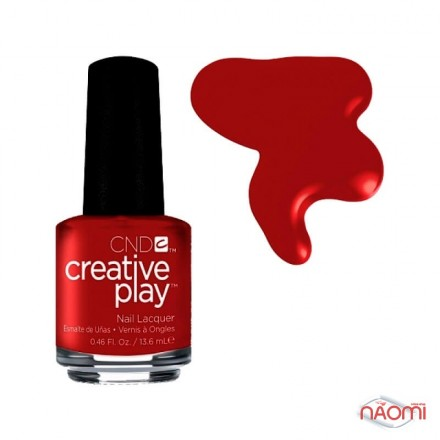 Лак CND Creative Play 412 Red-Y To Roll, красный, 13,6 мл, фото 1, 139.00 грн.