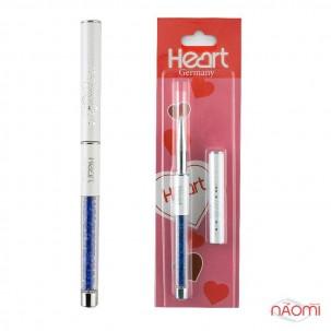 Кисть для рисования Heart 0 с кристалами, цвет в ассортименте, искусственный ворс 7 мм