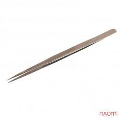 Пинцет Salon Professional для наращивания ресниц, прямой, 13,5 см