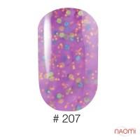 Гель-лак Naomi Candy Bar 207 молочно-сиреневая карамель с конфетти, 6 мл