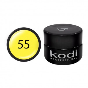 Гель-краска Kodi Professional 55, цвет желтый, 4 мл