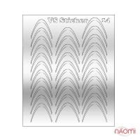 Металлизированные наклейки № 14 дуга, цвет серебро