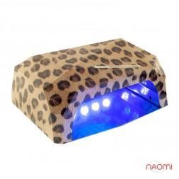 УФ LED+CCFL лампа для гель-лаков и геля 36W, с таймером 10, 30 и 60 сек., леопард коричневый
