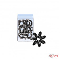 Резинка-браслет для волос Invisibobble NANO True Black, цвет черный, 20х3 мм. 3 шт.