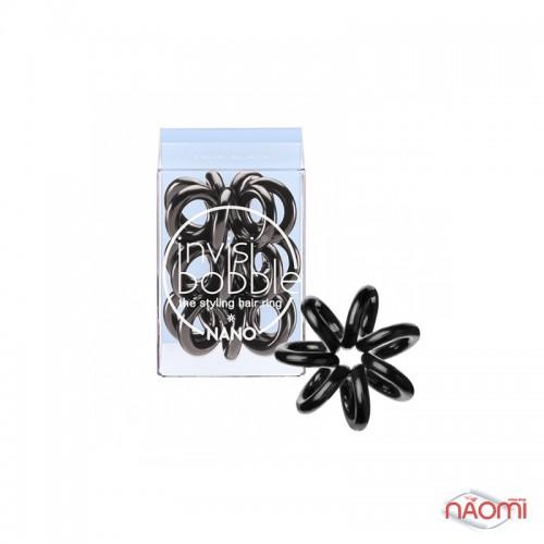 Резинка-браслет для волосся Invisibobble NANO True Black, колір чорний, 20х3 мм, фото 1, 149.00 грн.