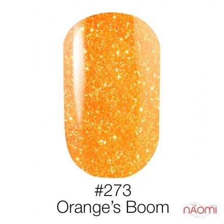 Гель-лак Naomi 273 Oranges Boom неоновый оранжевый с глиттером, 6 мл, фото 1, 95.00 грн.
