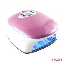 УФ лампа для ногтей 36W 302, таймер, цвет розово-белый