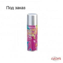 Фарбувальний спрей для волосся, колір срібло металік, 125 мл