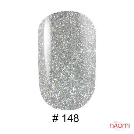 Гель-лак G.La color 148 серо-серебристый с цветными шиммерами, 10 мл, фото 1, 80.00 грн.