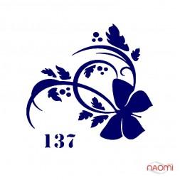 Трафарет для временного тату Узоры №137 6х6 см