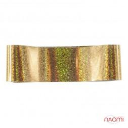 Фольга для нігтів перебивна, для лиття, gold, зірки, пісок L = 1 м. ширина 4 см.