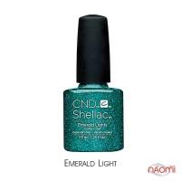 CND Shellac Emeraid Light зеленый с блестками, 7,3 мл