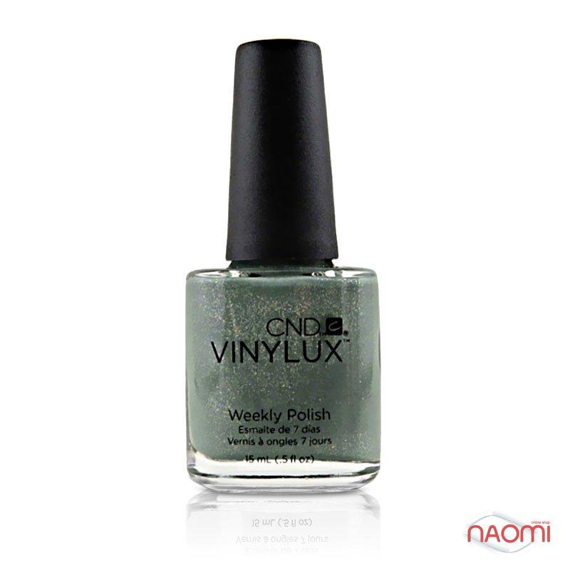 Лак CND Vinylux Weekly Polish 186 Wield Moss зеленовато-серый с мерцающими шиммерами, 15 мл, фото 1, 149.00 грн.