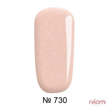 Гель-лак F.O.X French 730 мягкий розовый с переливающимися шиммерами, 6 мл, фото 1, 105.00 грн.